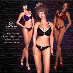 ezura + Gothic Swimwear *3 Colors (ezura Xue) Tags: ezura
