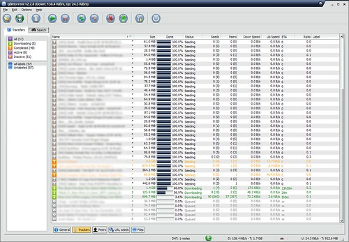 qBittorrent full screenshot