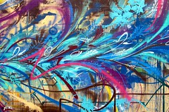 Abstract Bird Mural (Seetwist) Tags: seetwist seetwistproductions graffiti grafitti graffitti grafiti graff art paint aerosol streetart denvergraffiti denverstreetart denver colorado 303 720 local stp path path1 ouija jolt guerillagarden seventhcolor