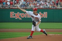 Strasburg's First Major League Pitch