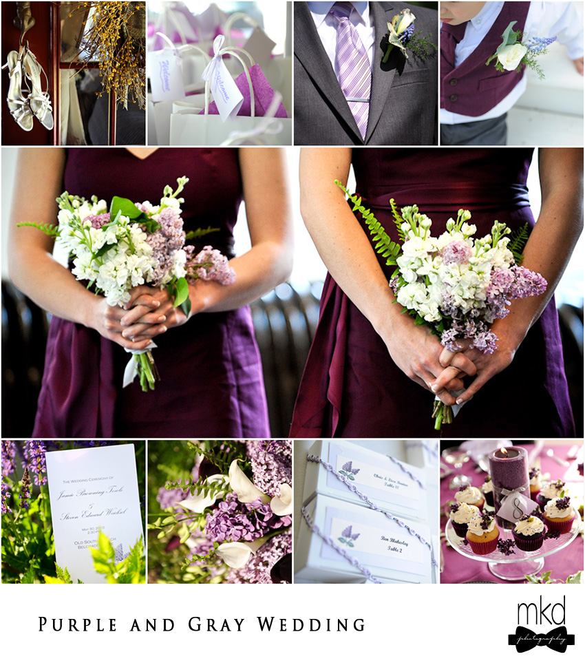 Purple Wedding Ideas With Pretty Details: Purple And Gray Wedding Details
