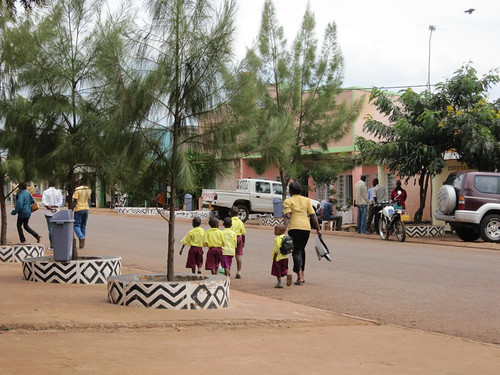10a. Clean, landscaped streets in a village 40km into Rwanda from Rusumo