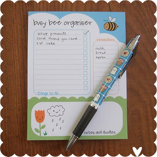 Busy Bee Organiser Pads