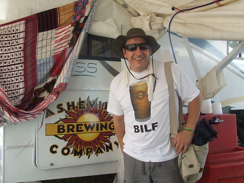 Asheville Brewing Company's Mike Rangel is reppin' at this year's 'Roo