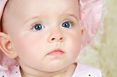 Lara (Sergiu Bacioiu) Tags: pink baby studio children babies sweet expression small young lara newborn tamron f28 70200mm strobist tamronspaf70200mmf28dildifmacro