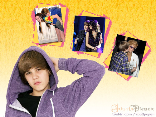 photos of justin bieber kissing his girlfriend. justin bieber kiss wallpaper