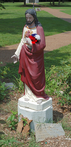 Old Saint Ferdinand Shrine, in Florissant, Missouri, USA - statue of the Sacred Heart of Jesus
