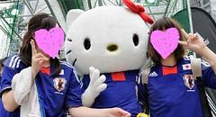 ★Super Kawaii Samurai Blue Supporter! キティちゃん日本を応援★ (Pinky Anela) Tags: japan tokyo hellokitty soccer sanrio samurai worldcup 2010 samuraiblue pinkyanela