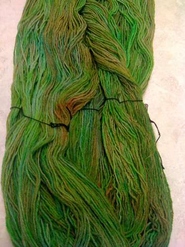 Zombie targhee dyed green