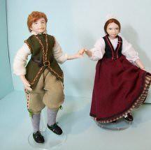 Tudor children dancing  by Mrs Tiggywinkle's Dolls  http://www.etsy.com/shop/MrsTiggywinkleDolls