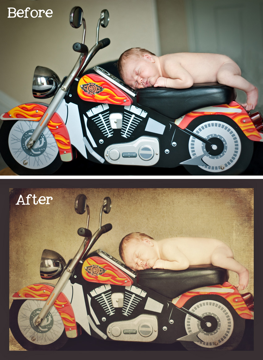 Motorcycle Baby Before and After
