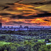 Albany Skyline Sunset HDR
