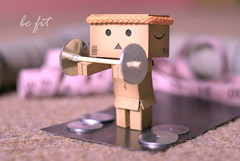 Danbo at the gym (butacska) Tags: macro sony fitness gym fit danbo