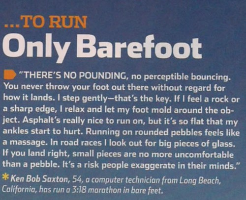 What it Takes to Run Barefoot