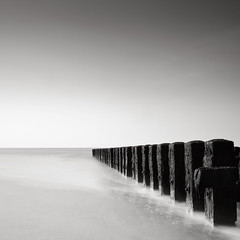 Sketches of Holland III (Joel Tjintjelaar) Tags: explore bwphotography groynes daytimelongexposure explored nd110 smoothsilkywater tjintjelaar bwnd110filter 10stopsfilter blackandwhitelongexposurefineart