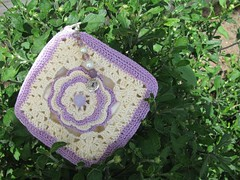 Petite Rose Pouch in lavender and cream (MGLDesigns) Tags: beads cream organizer lilac pouch etsy levender