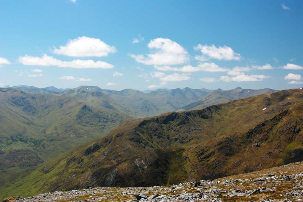 Looking over the Glen Shiel hills