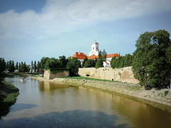 Győr, Old Town, Bishop's Castle/Püspökvár a Rába partján (elinor04 thanks for 33,000,000+ views!) Tags: street building architecture river hungary view baroque duna oldtown danube neoclassicism győr