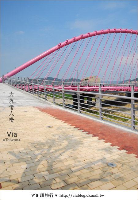 【大坑情人橋】新的台中約會景點~浪漫粉紅色情人橋21