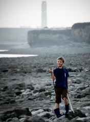 Lewys ~ Rhoose Beach (livin the dream*) Tags: sunset sea beach water coast sticks october pebbles wellies valeofglamorgan headland rhoose lewys mostsoutherlypointinwales