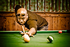 Day 240/365 (Ashton Sterling Photography) Tags: sepia arthur billiards 365 poolhall indoorsports lininguptheshot thisdudewasonceofthenicestguysyoucouldjustrandomlymeet