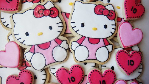 Hello Kitty Cookies Close up