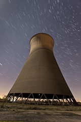 IMG_8816 raw edit stack (night photographer) Tags: moon abandoned station night photography star long exposure photographer power towers trails full disused derby cooling willington