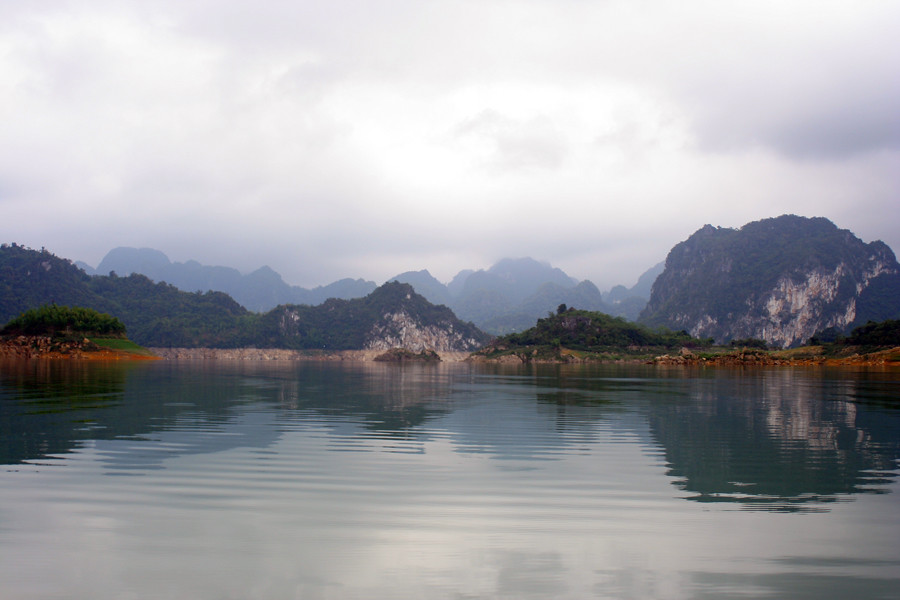 The reservoir, Hoa Binh, Vietnam