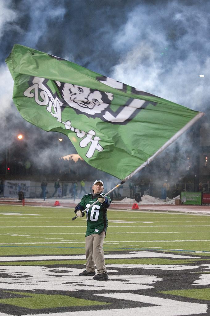 Huskie Flag Plant: Tom Speed, Oct 29, 2010