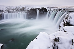 Goafoss ND110 (no3rdw) Tags: winter sky white snow ice water flow grey waterfall iceland long exposure flowing godafoss goafoss nd110