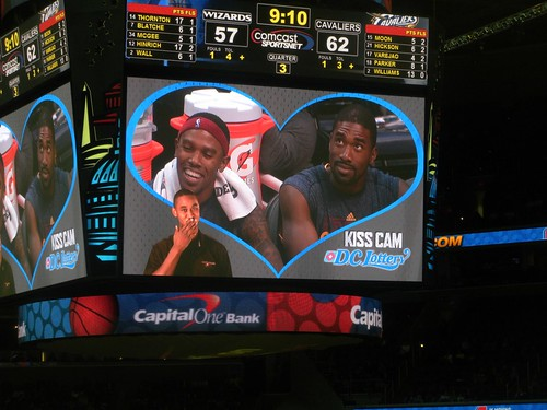 kiss cam, washington wizards, truth about it
