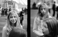 Emma and Katia (patrickjoust) Tags: street city portrait people urban bw white black slr blancoynegro film home smile museum kids analog america pen 35mm lens person smithsonian dc washington reflex kid focus mechanical katia kodak tmax district f14 space air united north emma patrick olympus columbia v niece developer national single frame half epson ft 100 40 states manual autos 40mm 500 halfframe nieces joust developed develop estados chil blancetnoir unidos gzuiko v500 schwarzundweiss autaut patrickjoust
