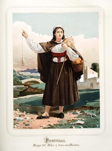 019-Portugal-Mujer del Miño-Las Mujeres Españolas Portuguesas y Americanas 1876-Miguel Guijarro