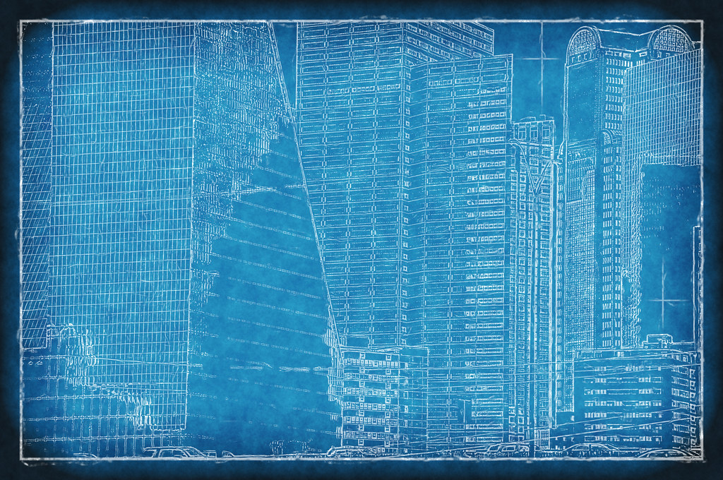 The worlds most recently posted photos of blueprint and dallas dallas texas skyline blueprint skyscrapers fountain place buildings downtown architecture photographer 194330 david kozlowski malvernweather Gallery