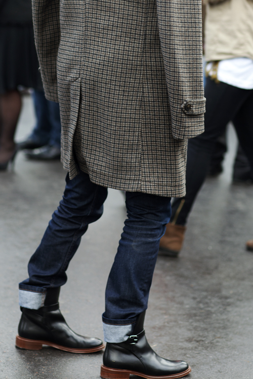 tweed shoulder coat+menswear