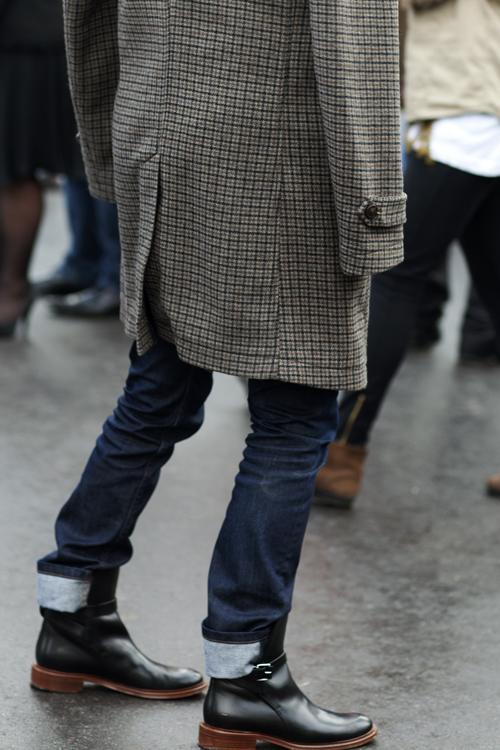 tweed shoulder coat+menswear