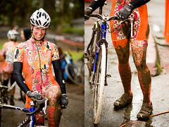 Sheila Moon lady (Bici Girl) Tags: coyote wet race point mud bikes cx diptychs