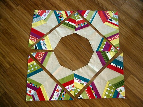 Christmas Tree Skirt Piecing 5