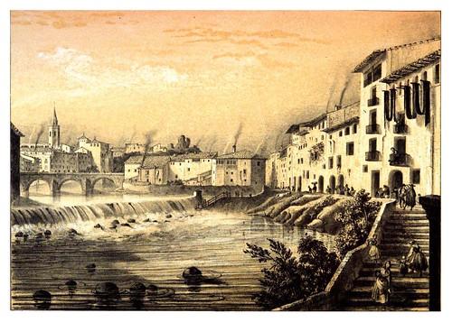 001-Barbastro 1844-Calle de las Fuentes-Recuerdos y bellezas de España Vol 1-Aragon