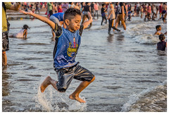 Jumpy (Aiel) Tags: aksabeach aksa bombay mumbai beach sea shore seashore barcelona luissuarez jump leap splash water drops canon60d canon24105f4lis