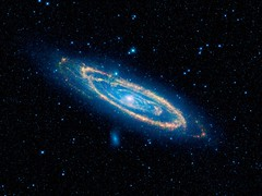 WISE Infrared View of Andromeda Galaxy and Companions (antonio alves - aj station) Tags: andromedagalaxy m31 ngc224 m32 ngc221 m110 ngc205