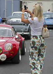 Chinon classic 1 (Henk Overbeeke Atelier54) Tags: girl woman car classic chinon france candid street blond photographing