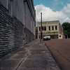 Yazoo City (ADMurr) Tags: ms mississippi delta yazoo city streetscape wall yellow furniture store abandoned rolleiflex 28 f kodak dab045 zeiss planar