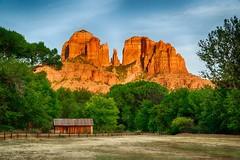 Cathedral Rock in Sedona, Arizona (David Youngblood) Tags: rustic rustedbarn southwest bluesky summer sunset redrock oakcreek crescentmoonranch crescentmoonpicnicsite sony a6300 barn creek az arizona sedona cathedralrock