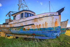 Pisces (KPortin) Tags: pisces abandoned abandonedboat boat rusty crescentcityca explore