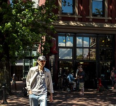 Summer Gastown (Photo Alan) Tags: summer summertime gastown vancouver canada people street streetphotography streetpeople shadow shadowplay reflection outdoor city cityscape cityofvancouver urban