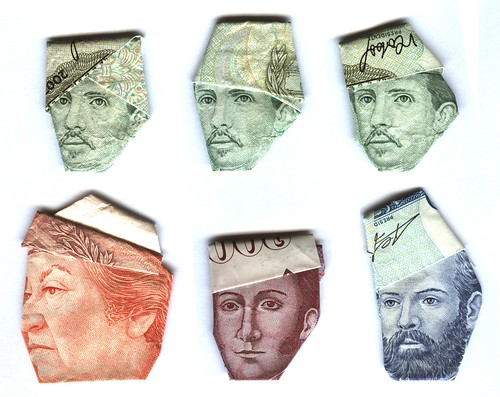 Money hats origami