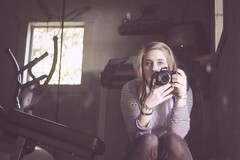 strange (laurenmarek) Tags: light portrait me self myself 50mm mirror nikon texas natural garage 18 tones d40 laurenmarek