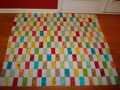 Brick Quilt Layout (KMQuilts) Tags: ava fabric landen brickquilt avalanden quiltalong2010