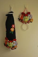 DSC_0174 (lilia.paim) Tags: feltro patchwork decorao tecido galinhas portatoalha portapano
